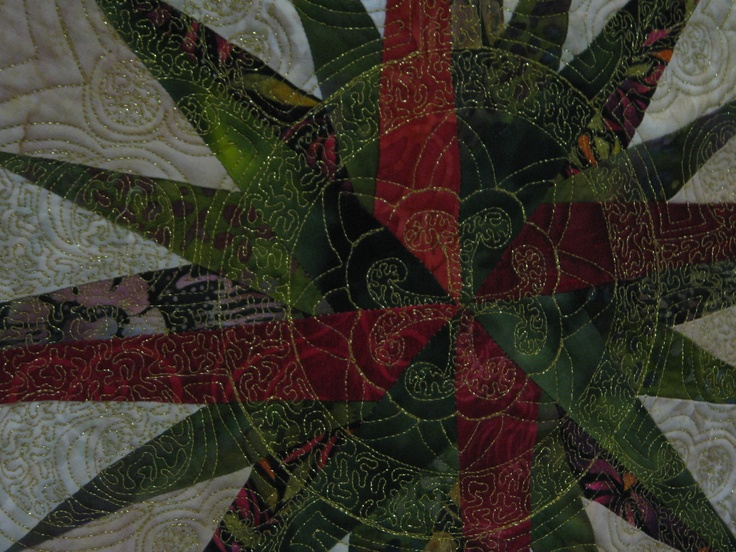 """Quilting detail """"Filigree"""" by Marilyn Badger"""