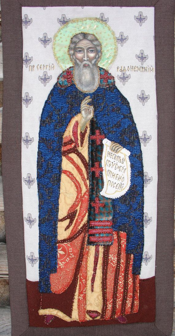Orthodox ICON St. Sergius Radonezh Miracle-worker от warmquilts