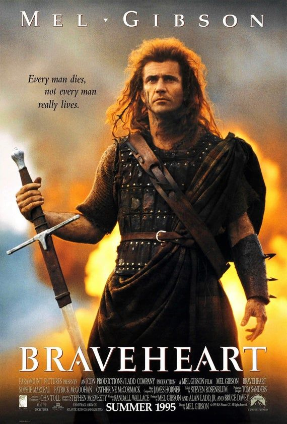 Braveheart Movie Poster Glossy High Quality Print Photo Wall Etsy In 2021 Braveheart Mel Gibson Movie Posters