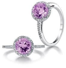 purple diamond engagement ring