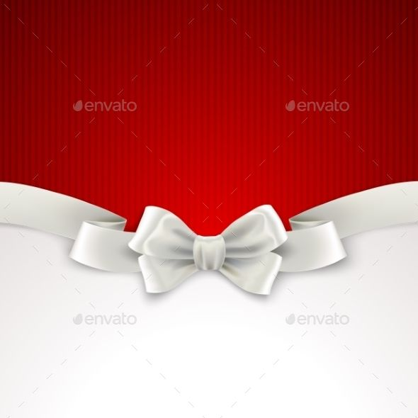 Red Christmas Background with White Silk Bow — JPG Image #red #illustration • Available here → https://graphicriver.net/item/red-christmas-background-with-white-silk-bow/9721939?ref=pxcr