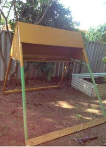 chicken coop, homemade chicken pen, recycling, swing sets, chickens