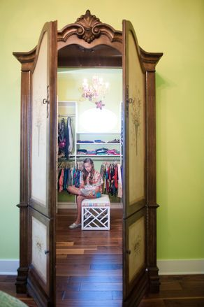 The New Luxury Kids Rooms— Faux armoire entrance into teen's closet a la the Lion Witch and Wardrobe. So creative.