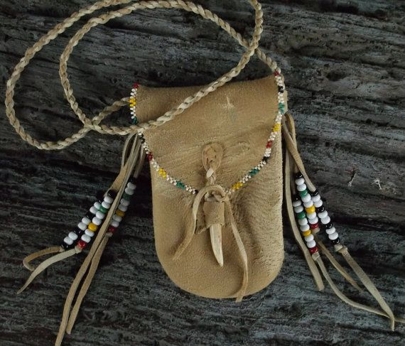 Primitive Hudson Bay Mountain Man Trapper Medicine Bag by misstudy, $52.00