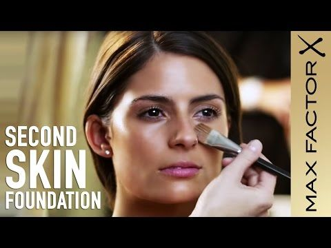 How to Apply Foundation | Second Skin Foundation Make-Up Tutorial with Max Factor - YouTube
