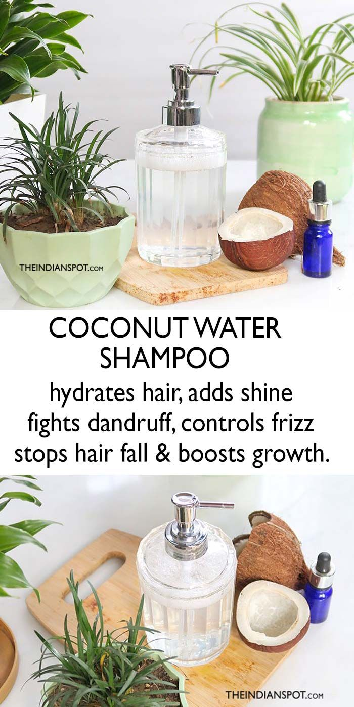 natural coconut water shampoo for healthy hair growth