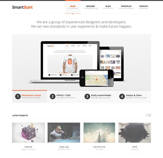 This responsive WordPress template features custom shortcodes, localisation support, a built-in contact form, Google Maps integration, loads of cool jQuery effects, more than 500 Google Web Fonts, cross-browser compatibility, and much more.