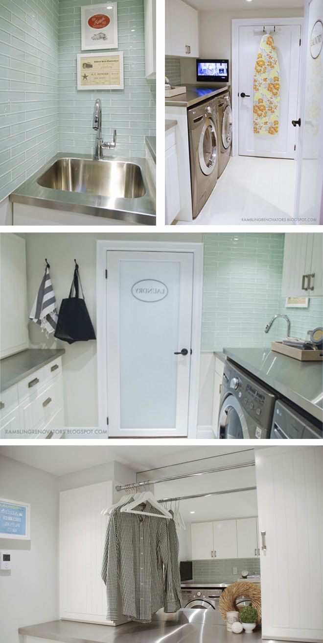Rambling Renovators: House Tour TV in the laundry room yes please!