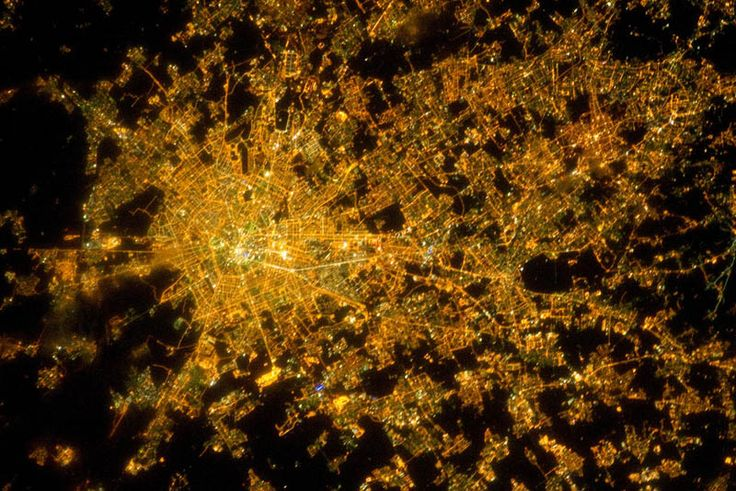 2. Milan, Italy at Night from Space – 02/22/11