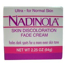 NADINOLA skin cream for normal skin 2.25oz by NADINOLA. $7.95. fades dark spots for a more even skin tone. Skin discoloration fade cream. Nadinola Skin Discoloration Fade Cream For Normal Skin Moisturizes and conditions your skin - leaving it soft - smooth and more radiant.