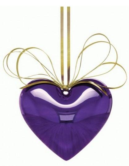 Purple HeartKooning Hanging, Kooning Purple, Jeff Kooning, Hanging Heart, Purple Hearts, Jeffkoons, Purple Passion, Jeff Koons, Heart Ornaments
