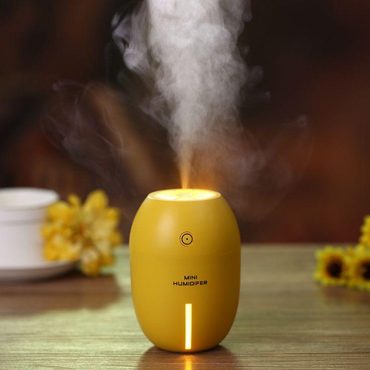 Mini USB Lemon 180ml Ultrasonic Humidifier Air Purifier Mist Maker Ultrasonic Humidifier with LED Light For Home Office Car