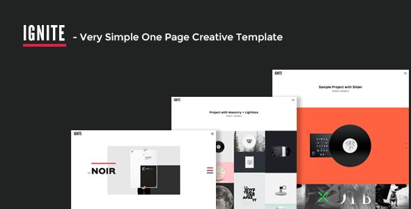 IGNITE - Very Simple One Page Creative Template