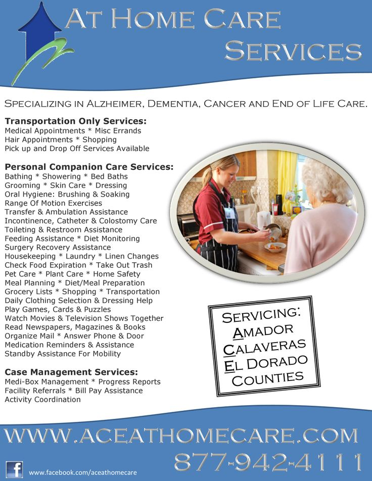 At home care provides a customized personal care provider