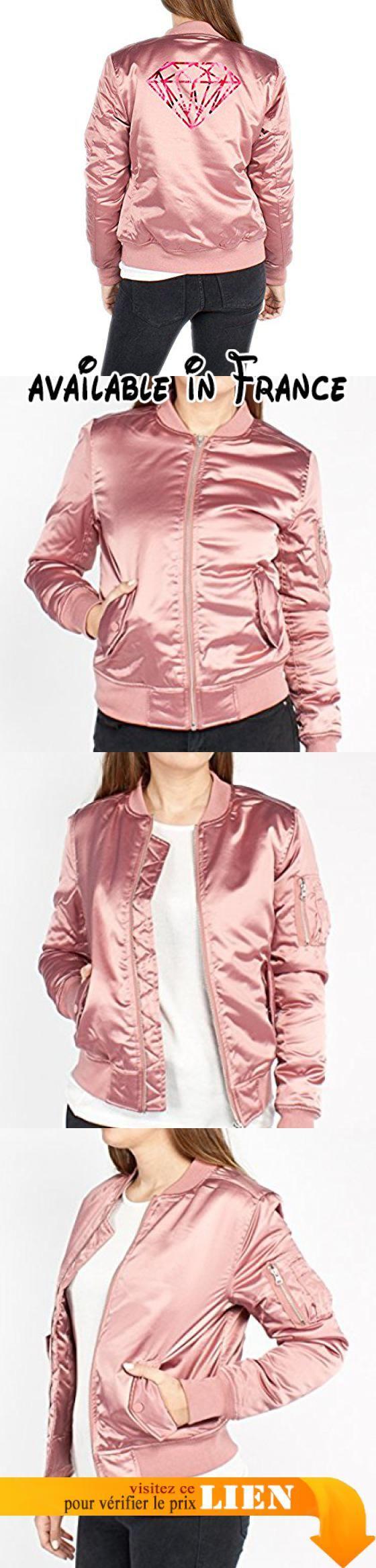 B075D77CKG : Diamond Roses Bomber Vest Girls Rose Certified Freak-L.