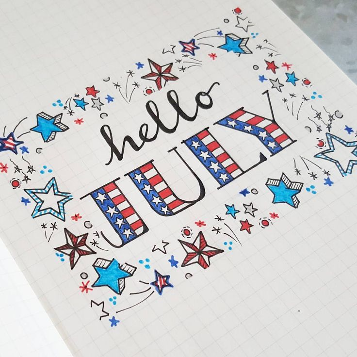 Hello July. Hello Summer. Hello new month in my bullet journal.
