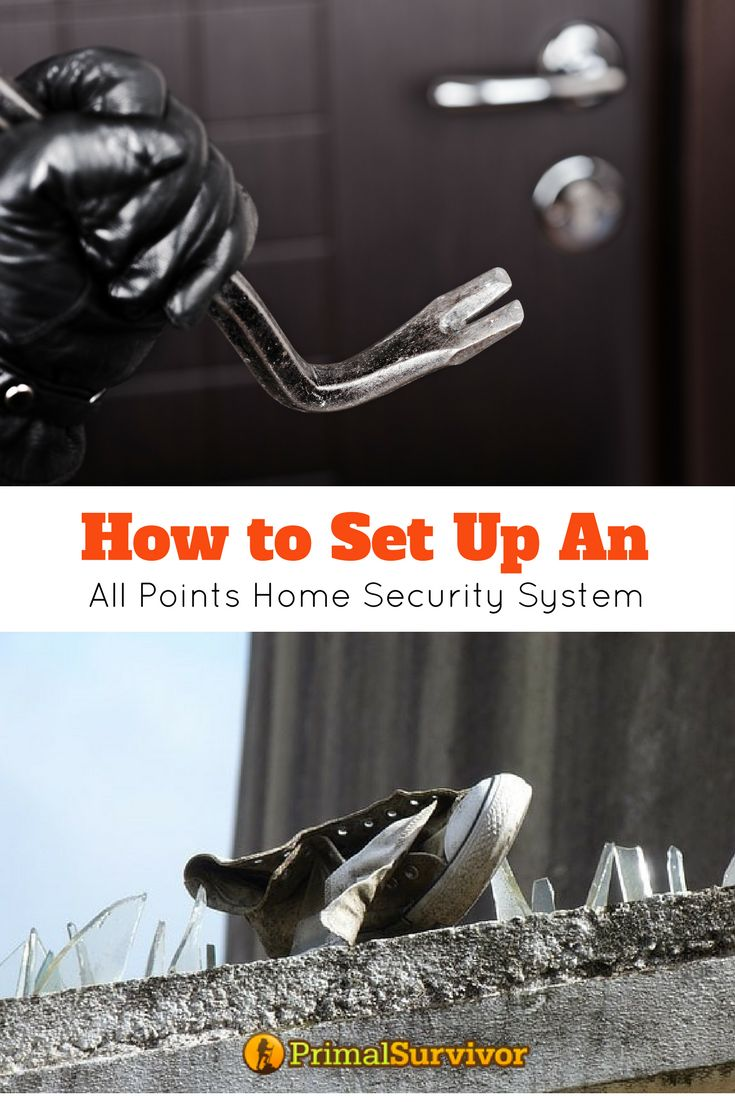 How to set up a DIY all points home security system on the cheap. Protect your home from intruders all year around or when shtf. #homesecurity #emergencypreparedness #DIY