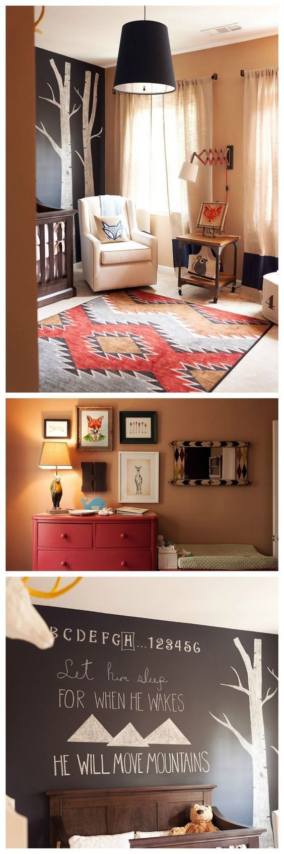 Modern Woodland Nursery with Fox Decor - so many fab details in this space! trendy family must haves for the entire family ready to ship! Free shipping over $50. Top brands and stylish products