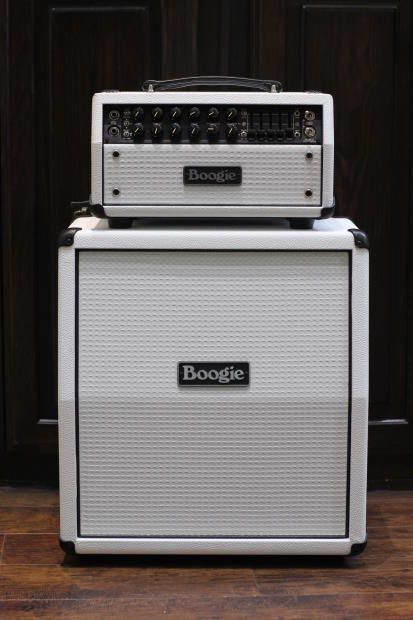 Mesa Boogie Mark Five: 25 Head and Mini Rectifier 1x12 Slant Cabinet Hot White with White Grille | Reverb