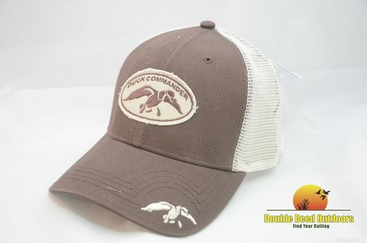 Duck Commander Brown Mesh Fitted Duck Commander Hat A-flex Fit