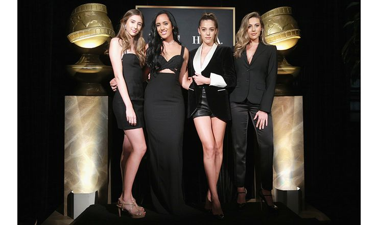 Last year's Miss Golden Globes – Sylvester Stallone's daughters Scarlet, Sistine and Sophia – helped introduce the star offspring who is the Golden Globes Ambassador for 2018: 16-year-old Simone Alexandra Johnson, daughter of Dwayne 'The Rock' Johnson