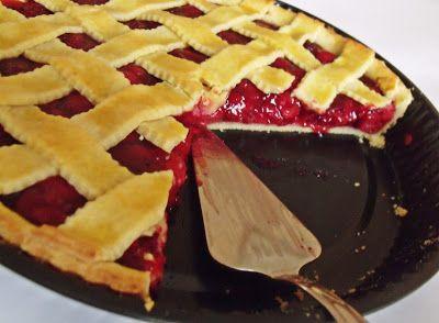 Citromhab: Meggyes pite