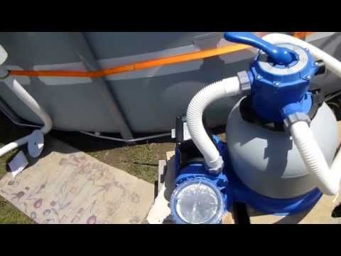 intex pool wall skimmer install with sand filter pump. Black Bedroom Furniture Sets. Home Design Ideas