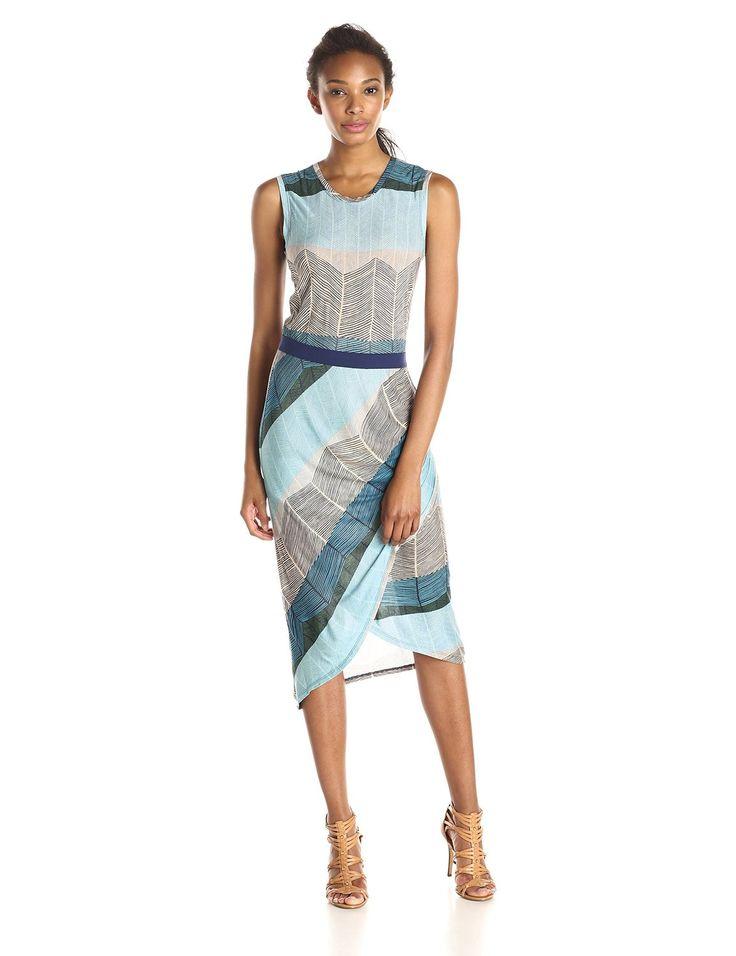 AmazonSmile: BCBGMAXAZRIA Women's Mikela Dress with Wrapped Shirred Skirt: Clothing