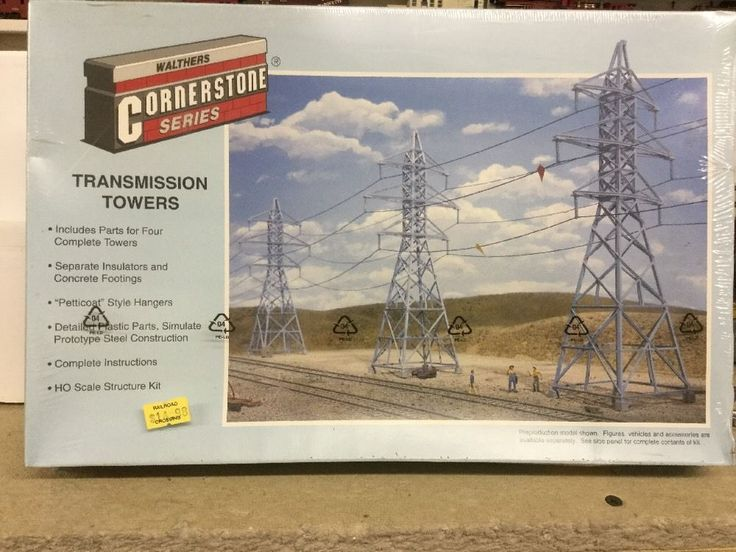 Walthers  Cornerstone series Transmission Towers #933-3121 HO scale Sealed #Walthers