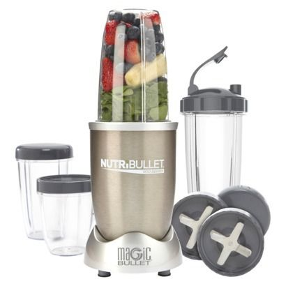Nutribullet 900 Series by Magic Bullet- amazing little machine, just make sure you get the 900.