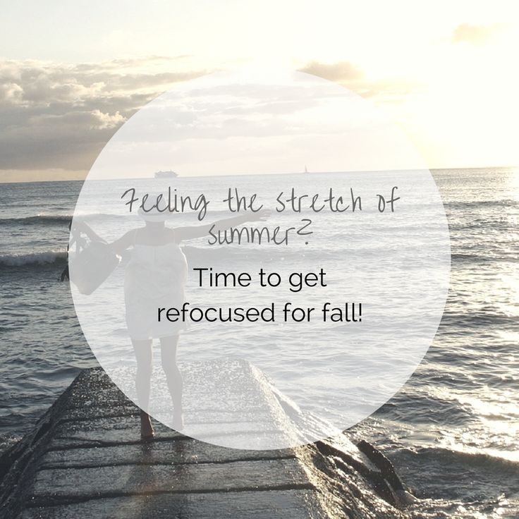 It's the final days of summer and I hope you are feeling grounded and refreshed but chances are you might be feeling a little tired and frazzled?