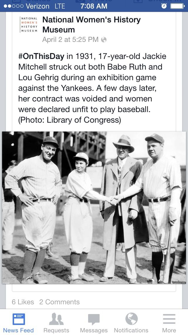 Jackie Mitchell, the 17 year old girl who struck out Babe Ruth and Lou Gehrig!