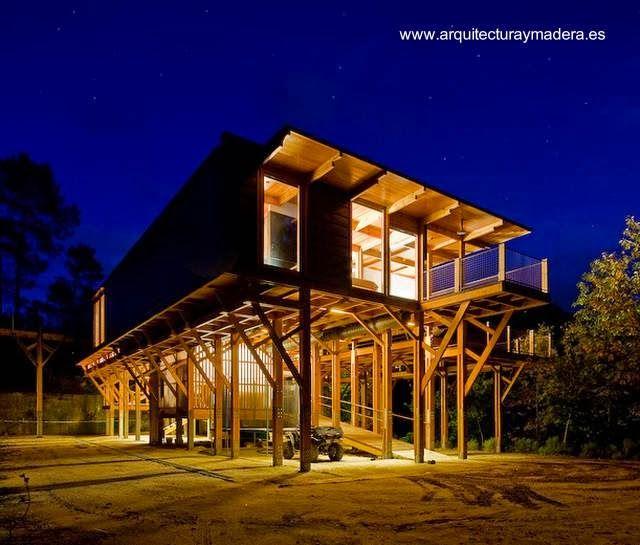 Dise o contempor neo casitas pinterest dise o - Refugios de madera prefabricados ...