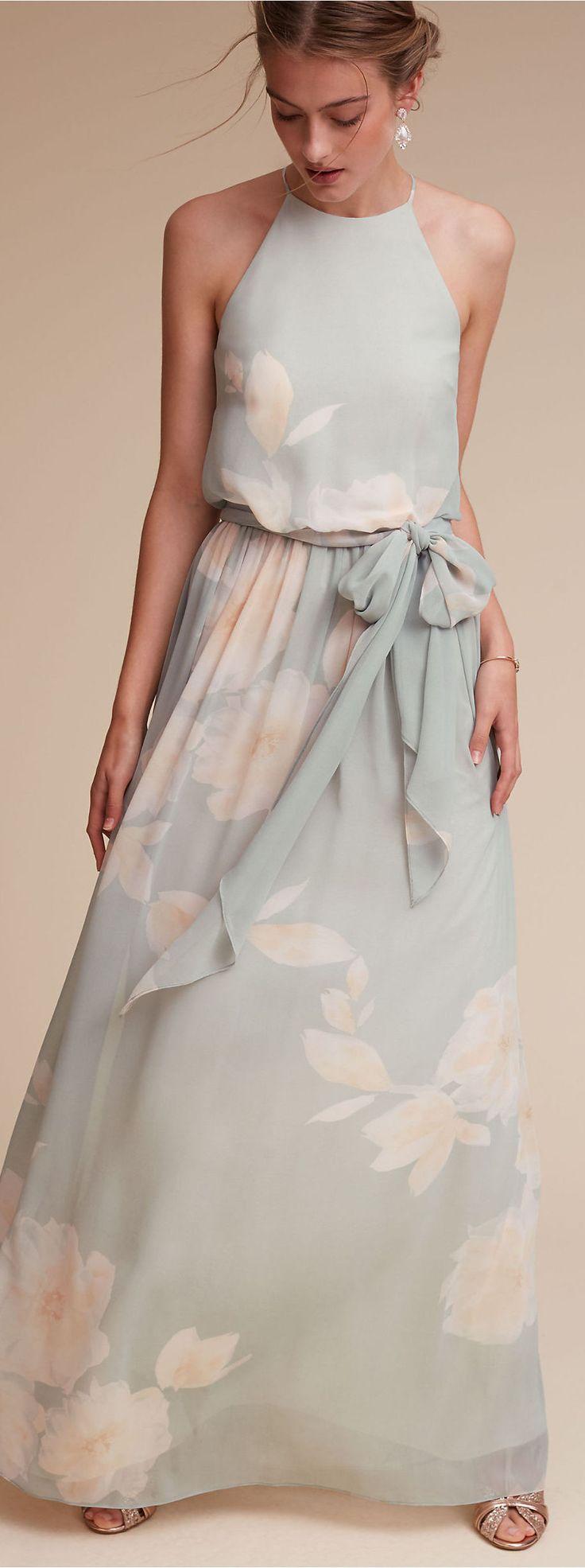 Pastel Floral Bridesmaid Dress   BHLDN