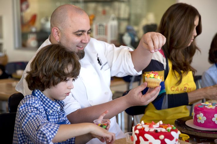 "We asked Duff Goldman, what is the weirdest cake request you've ever gotten? Duff said, ""Fifty individual cakes hung from the ceiling of an art gallery on fishing line at eye level, and all the guests got scissors when they walked in. It was amazing."" #DuffDay"