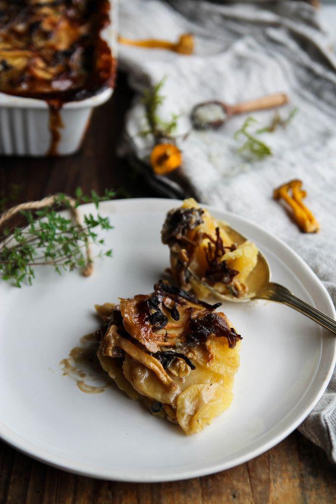 Gratin de pommes de terre aux champignons {vegan – sans gluten}