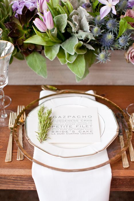 155 best images about Wedding Place Setting on Pinterest | Wedding ...