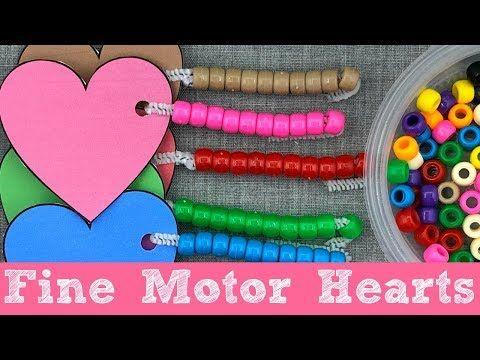 Fine Motor Hearts For Preschool and Kindergarten - YouTube