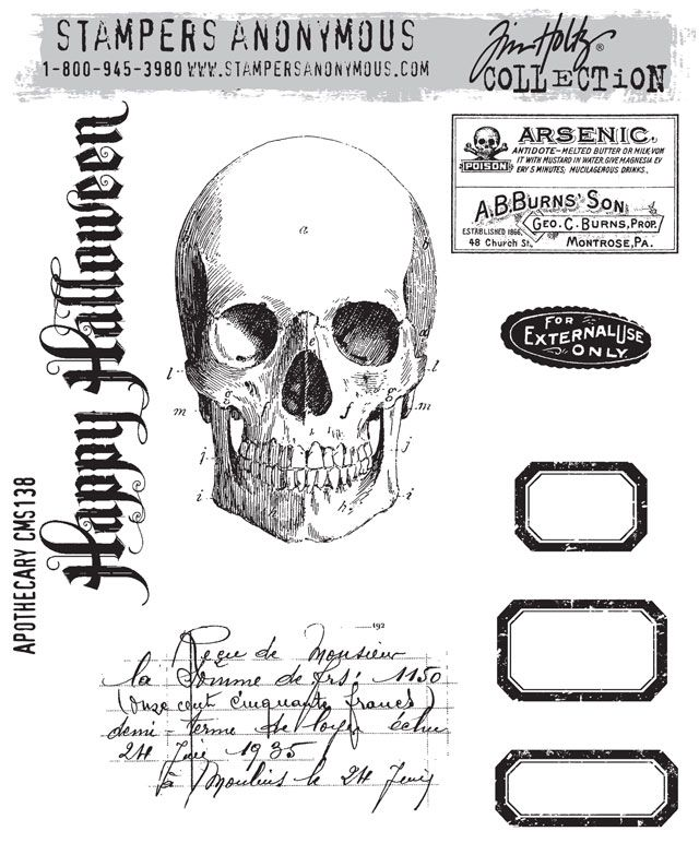 Rubber stamps that are also medical illustration? How can you beat that?    Tim Holz new 2012 collection