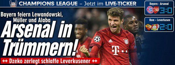 #ChampionsLeague Nov 4: #Leverkusen http://sportdaten.bild.de/sportdaten/u  http://www.bild.de/sport/fussball/champions-league/tor-rot-fuer-toprak-43274920.bild.html #FCBayern (2 goals by astro #snake #Mueller) http://sportdaten.bild.de/sportdaten/uebersicht/sp1/fussball/co19/champions-league/#sp1,co19,se18454,ro58798,md0,gm4,ma2479963,pe0,to0,te0,ho209,aw127,rl0,na4,nb2,nc1,nd1,ne1,jt0 http://www.bild.de/sport/fussball/bayern-muenchen/robben-blitzt-in-37-sekunden-43274176.bild.html