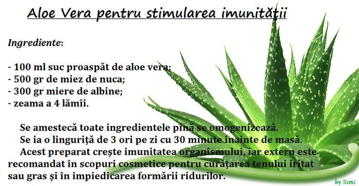 Aloe Vera ptr Stimularea imunitatii