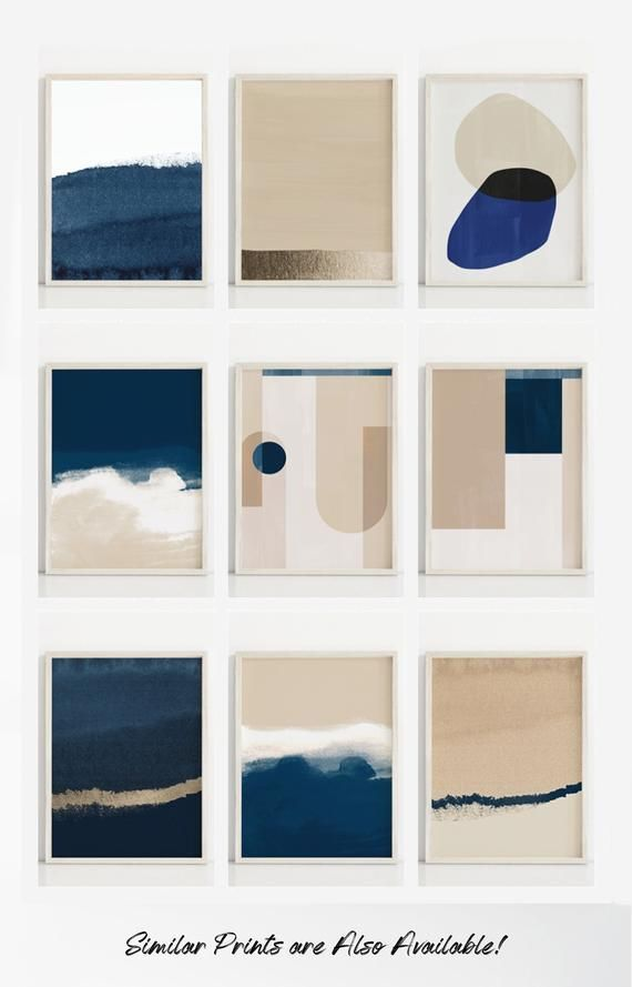 Navy Art Print, Minimal Print, Watercolor Print, Dark Blue Nursery Art, Navy Prints, Minimal Wall Art, Abstract Print, Wave, Abstract Art