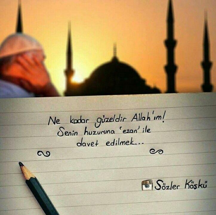 #Allah #ezan #aşk #ezan #sözlerköşkü