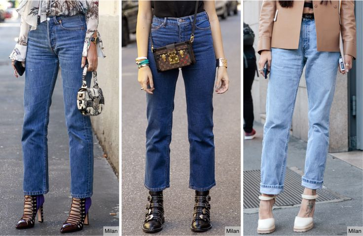 Street Style: Milan features the trending Wedgie Fit jean this Spring in three different styles