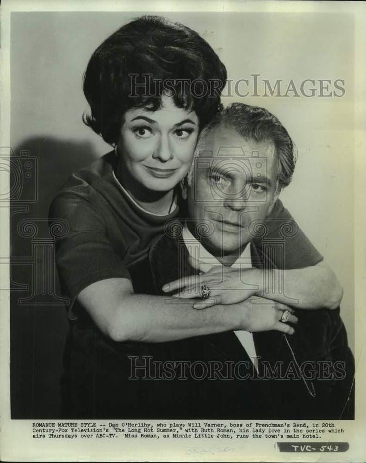 "1960 Press Photo Dan O'Herlihy and Ruth Roman star in ""The Long Hot Summer"""