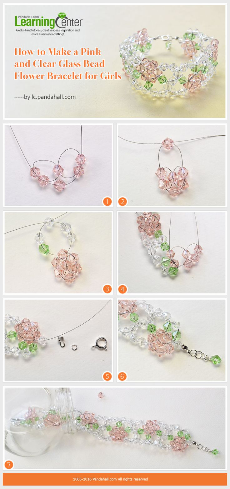 Tutorial On How To Make A Pink And Clear Glass Bead Flower