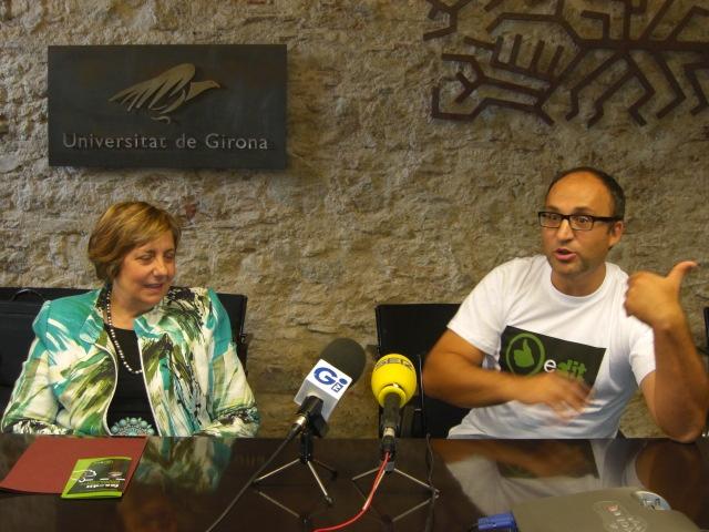 fesedit.cat, presentació davant el rectorat de la UdG