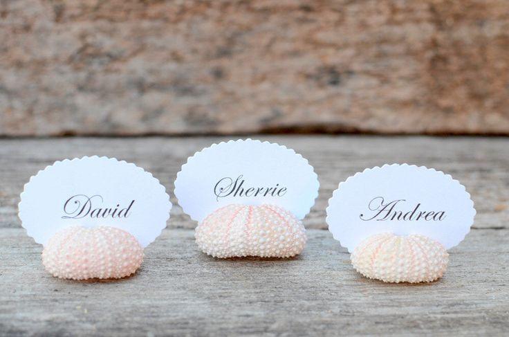 Segnaposto fai da te creato con le conchiglie | DIY placeholder made with shells • #DIY #placeholder #summer #shell