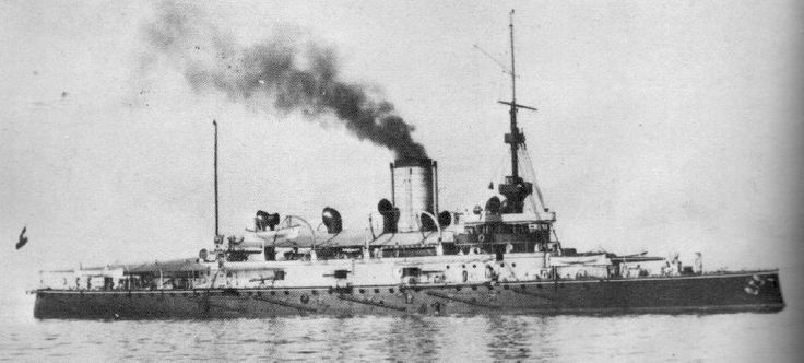 Budapest (Monarch Class) circa 1906. Became accommodation ship in 1918. Given to Britain in 1920 and scrapped in Italy.