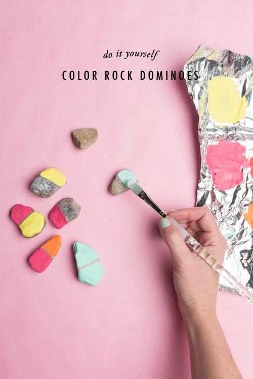 Color rock dominoes idea